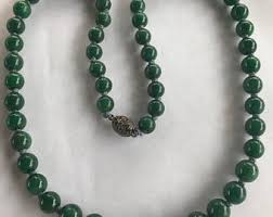 jade bead necklace images Jade bead necklace etsy jpg