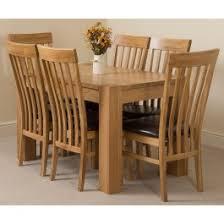 Solid Oak Dining Table Set Kuba Oak Dining Set 125cm 6 Princeton Chairs