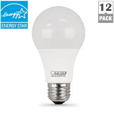 5000k led light bulbs feit electric 75w equivalent daylight 5000k a19 dimmable led light