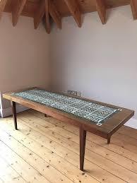 tile top coffee table mid century retro danish teak tile top coffee table in dunbar