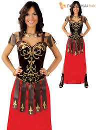 ladies gladiator warrior costume adults spartan roman fancy dress