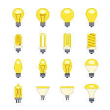 Flat Light Bulb Light Bulb Vector Icons Graphics Creative Market