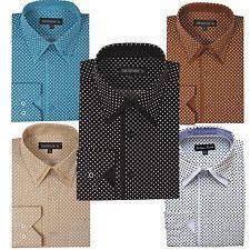george polka dot dress shirts for men ebay