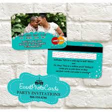 Card Invitations Wedding Credit Card Turquoise Teal Invitations Invitaciones De Boda
