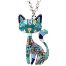 new necklace styles images Statement maxi enamel cat lover 39 s necklaces 6 styles belle jpg