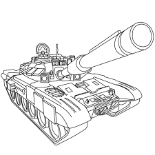 Coloriage Militaire Char a Imprimer Gratuit
