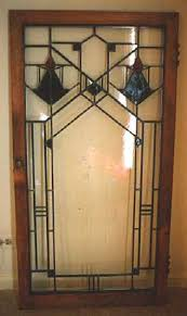 frank lloyd wright style glass cabinet door design