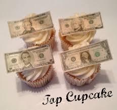 edible money money cupcake toppers