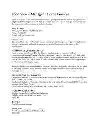 Well Written Resume Examples by Objective For Food Service Resume Samples Of Resumes