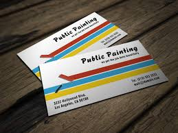 Business Cards Painting Painter Business Card J32 Design