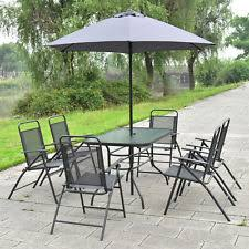 Outdoor Patio Set With Umbrella 6piece Folding Patio Set Outdoor Chairs Table Umbrella Furniture