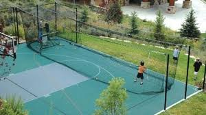 Basketball Court In The Backyard Sport Courts
