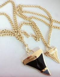 tooth pendant necklace images Wholesale fashion 18k gold oil painting shark tooth pendant jpg