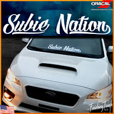 jdm sticker rear window subaru decal subie nation vinyl windshield sticker subaru wrx