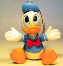 donald duck sitting ornament from our schmid bros collection