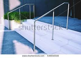 Stainless Steel Handrails For Stairs Stainless Steel Railings Stock Images Royalty Free Images