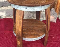 Wine Barrel Patio Table Eagle Eye Barrels More By Eagleeyebarrels On Etsy