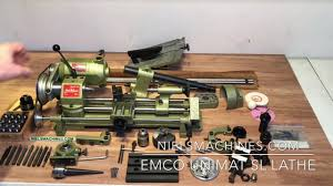 emco unimal sl lathe collection youtube