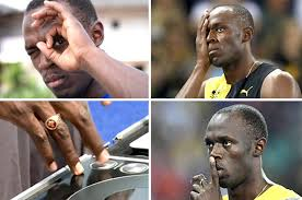 illuminati gestures usain bolt displays and illuminati gestures at