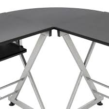 u shaped glass desk furniture awesome officemax glass desk for modern office