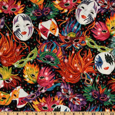 mardi gras material celebrations mardi gras masks black discount designer fabric