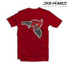 Tampa Bay Map Tampa Bay Buccaneers T Shirt Tampa Bay Map Red Tee