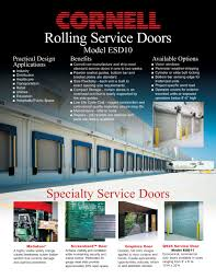 Overhead Door Curtains Rolling Service Door Cornell Pdf Catalogues Documentation