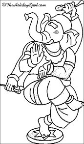 ganesh chaturthi pictures to color