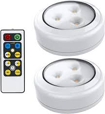 lights kitchen cabinets battery operated brilliant evolution led puck light 2 pack with remote wireless led cabinet lighting counter lights for kitchen battery operated