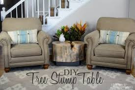 Tree Stump Nightstand Tree Stump Table Ellen Knock Off All Things Heart And Home