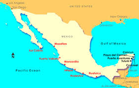 map of mexico resorts map of mexico resort destinations major tourist