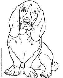 Dog Coloring Pages Printable Basset Hound Coloring Page Sheet Dogs Coloring Pages