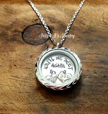 in loving memory lockets until we meet again floating locket necklace sted jewelry