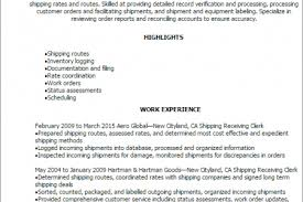 shipping and receiving manager resume shipping and receiving resume templates