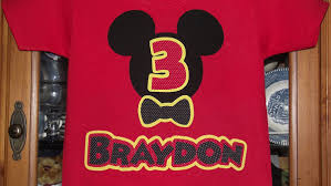 mickey mouse birthday shirt customized disney inspired mickey mouse birthday t shirt with bow tie