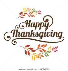 happy thanksgiving vector card autumn wreath stock vector