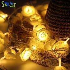 how many feet of christmas lights for 7 foot tree 2pack 7 2 feet novelty battery christmas lights 20 flowers led
