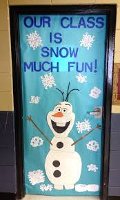 olaf classroom door frozen themed door bulletin boards