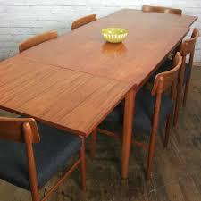 Draw Leaf Dining Table Mid Century Teak Extending Draw Leaf Dining Table Mustard