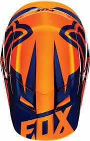 youth xs motocross helmet fox racing new 2016 mx v1 race orange blue ktm motocross