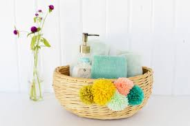 baskets for home decor diy yarn pom pom basket
