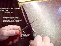 How To Sharpen Serrated Kitchen Knives Serrations On Fine Handmade Custom Knives By Jay Fisher