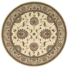 Floral Pattern Rugs Flooring Elegant Round Lowes Rugs In Cream With Floral Pattern