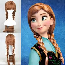 anna from frozen hairstyle disney frozen anna princess adult ponytail wig hair for halloween