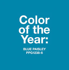 blue paisley named 2015 color of the year by ppg p ppg paints
