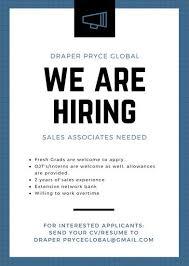 blue megaphone hiring job vacancy announcement templates by canva