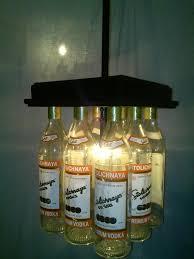 Glass Bottle Chandelier Stoli Vodka Bottle Bar Light Table Stolichnaya Chandelier Table