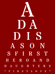 fathers day presents personalized fathers day gift eye chart