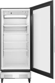 frigidaire commercial 18 4 cu ft glass door merchandiser black