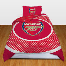 Duvet Club Single Football Duvet Cover Bedding Sets Official Arsenal Man
